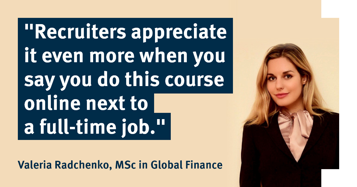 Swiss-based student Valeria on combining studying with building her career in global finance